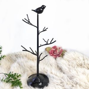 Jewelry Tree Black Bird
